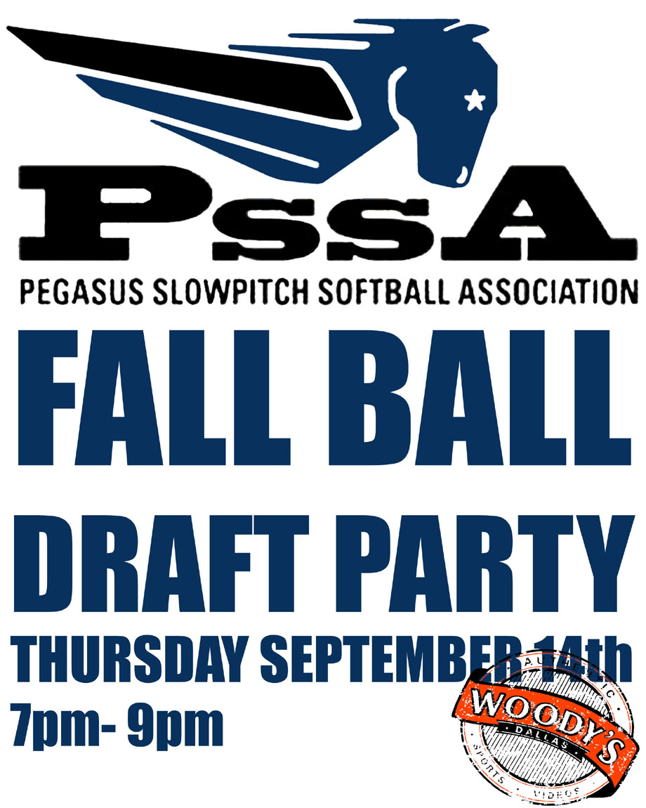 PSSA 2017 Fall Ball Draft Party @ Dallas Woody's | Dallas | Texas | United States