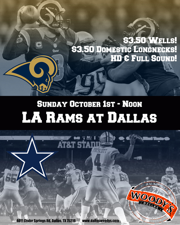 LA Rams at Dallas Cowboys @ Dallas Woody's | Dallas | Texas | United States