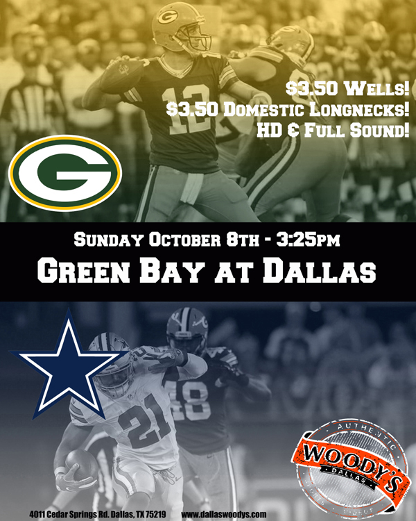 Green Bay Packers at Dallas Cowboys @ Dallas Woody's | Dallas | Texas | United States