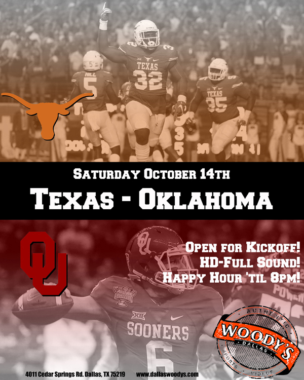 TXOU - Texas v Oklahoma @ Dallas Woody's | Dallas | Texas | United States