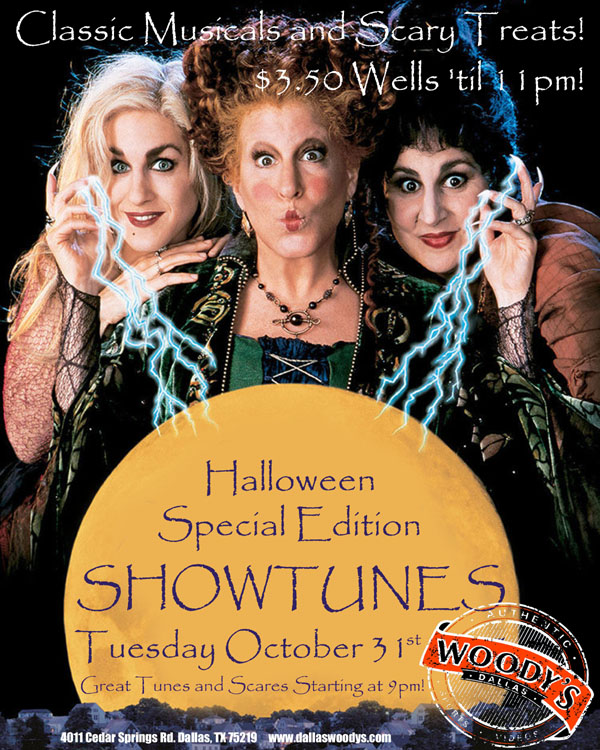 Halloween Special Edition Showtunes @ Dallas Woody's | Dallas | Texas | United States