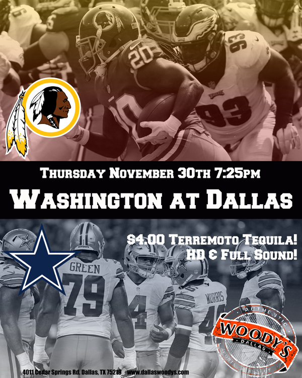 Washington at Dallas Cowboys @ Dallas Woody's | Dallas | Texas | United States