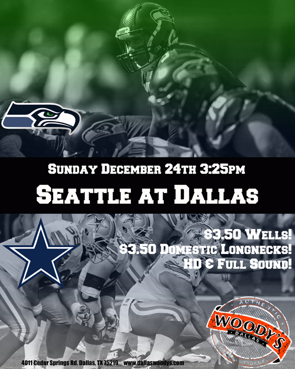 Seattle Seahawks at Dallas Cowboys @ Dallas Woody's | Dallas | Texas | United States