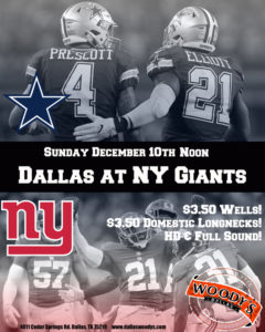 Dallas Cowboys at New York Giants @ Dallas Woody's | Dallas | Texas | United States