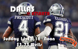 Cowboys Watch Party Dallas at Atlanta @ Dallas Woodys | Dallas | Texas | United States