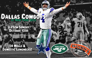 Dallas Cowboys at New York Jets Watch Party @ Dallas Woody's | Dallas | Texas | United States